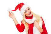 圣诞女人 — 图库照片