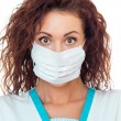 Nurse with protect mask — Stock Photo