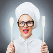 Woman cook, chef — Stock Photo #18528639
