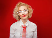 Expressive woman — Stock Photo