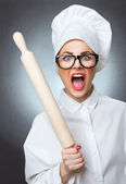 Woman cook, chief — Stock Photo