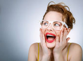 Expressive woman — Stock Photo