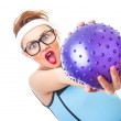 Funny fitness woman — Stock Photo #22674877
