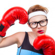 Funny fitness woman — Stock Photo #22675369