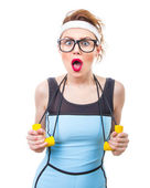 Sports woman — Stock Photo