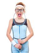 Donna sportiva — Foto Stock