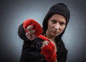 Sportovní žena — Stock fotografie