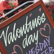 Valentines Day Sign Outside Florist — Stock Photo
