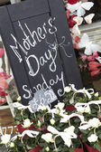 Sign Outside Florists For Mothers Day — Stock Photo