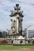 Barcelona. pomnik na plaza catalunya. — Zdjęcie stockowe