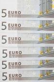 банкноты 5 евро. — Стоковое фото