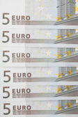 Banknotes of 5 euros. — Stock Photo