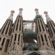 Sagrada Familia. New spires. - Stock Photo