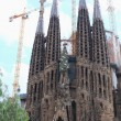 Sagrada Familia. The old facade. - Stock Photo