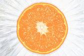 Mandarin on a light. — Stock Photo