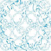 Blauwe en witte kalligrafie — Stockvector