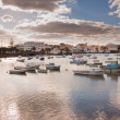 Coastal landscape of Lanzarote with fishing boats. — Stock Photo #20172175