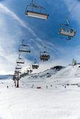 Chairlift in winter resort — Photo