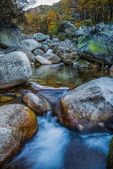 Waterfall and river low speed — Stock Photo