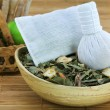 Aromatic Herbal Steam, traditional Thai compress — Stock Photo