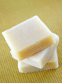 A Stack of Home-made Goat Milk Soap — Stock Photo