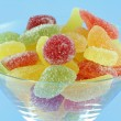 Stock Photo: Colorful fruity chewy sweet and sour candy