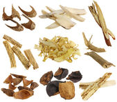 Assortment of Dried Chinese herbs — Stock Photo