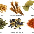Assortment of Dried Herbal Tea (from leaves, flowers) — Stock Photo