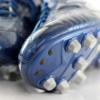 Shiny Blue Soccer boots, shoes — Stock Photo #28515729