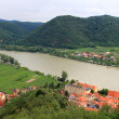 Stock Photo: Durnstein Abbey along Danube river, Austria