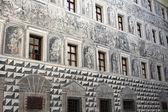 Grisalla (alivio gris) - pintura en la pared en innsbruck, austria — Foto de Stock