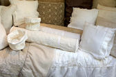 Hand-made Vintage Linen Pillow Case — Stockfoto