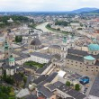Stock Photo: Salzach River and City of Salzburg