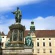 Statue of Francis II, Holy Roman Emperor in the Hofburg - Vienna, Austria — Stock Photo