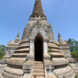 Stock Photo: Old and ruined stately Chedi at Wat PhrSi Sanphet Temple, Thailand