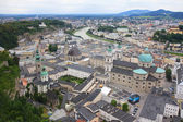Salzach River and the City of Salzburg — Stock Photo