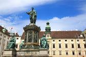 Statue of Francis II, Holy Roman Emperor in the Hofburg - Vienna, Austria — Stockfoto