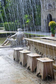 Tricky hidden fountains at the Summer Palace in Salzburg, Austria — Stock Photo