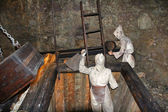 The demonstration at the Silver Mine (Silberbergwerk Schwaz), Austria — Stock Photo