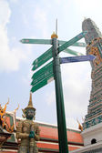 Signs and Direction at Wat Phra Kaew, Bangkok, Thailand — Stock Photo