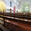 Stock Photo: Interior of peaceful Macao Cathedral, Macau