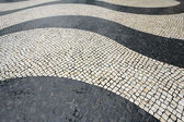 Wave-motif Tiles at Largo do Senado, Macau — Stock Photo