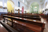 The Interior of the peaceful Macao Cathedral, Macau — Foto Stock