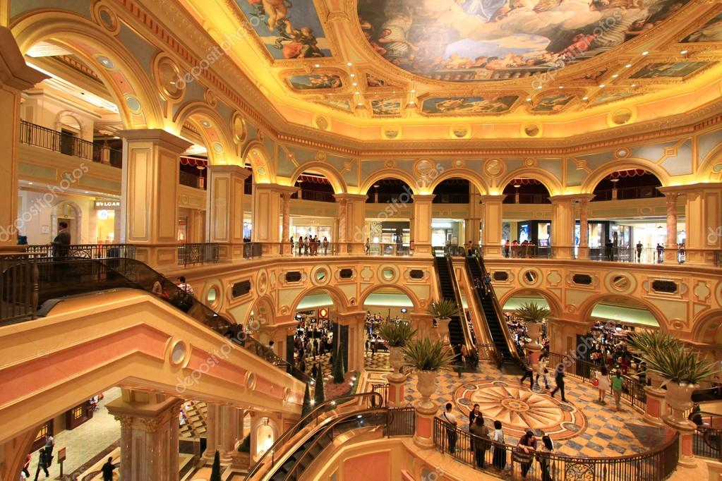 Inside The Venetian Hotel And Casino Resort Complex Macao