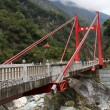 Cimu, A Big Red Bridge, Taiwan — Stock Photo