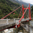 Cimu, A Big Red Bridge, Taiwan — Foto de Stock