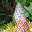 Big enameled Flowery Vase — Photo