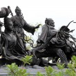 Statues of Chinese Immortal Wizards — Stock Photo