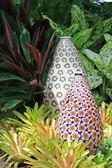 Big enameled Flowery Vase — Stock Photo