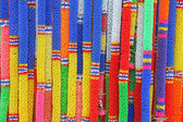 Colorful Thai plastic garland — Stockfoto
